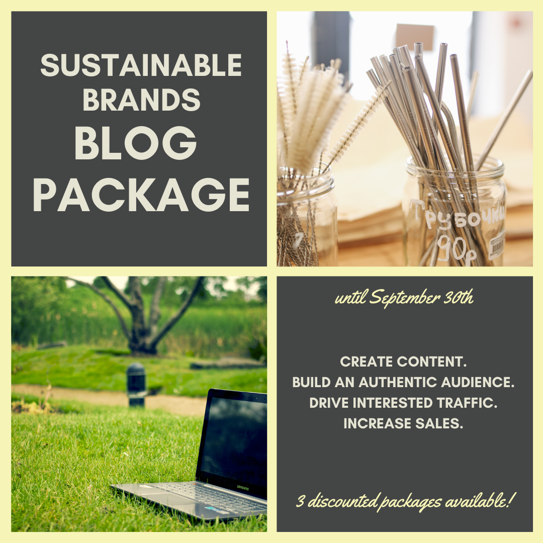 sustainable brand blog package